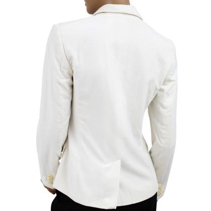Max Mara White 2-Button Blazer