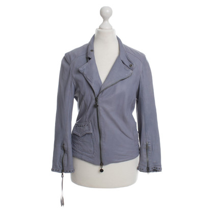Patrizia Pepe Lilac leather jacket