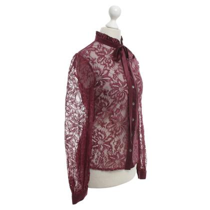 D&G Lace blouse in Bordeaux