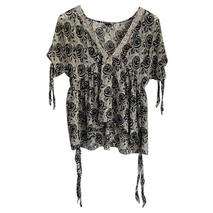 Anna Sui Silk blouse with pattern