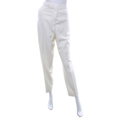 Yves Saint Laurent trousers in white