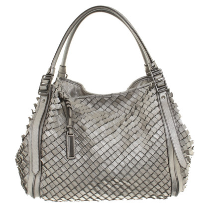 Burberry borsa di pelle color argento