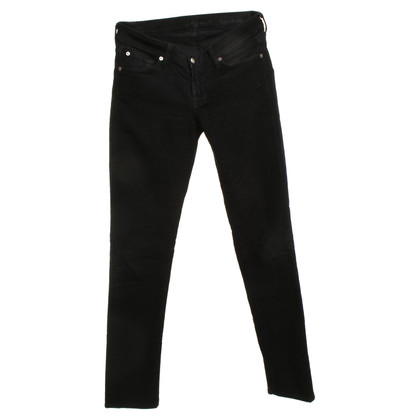 7 For All Mankind pantaloni di velluto in nero