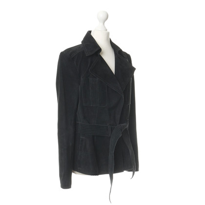 Bally Wildlederjacke in Schwarz