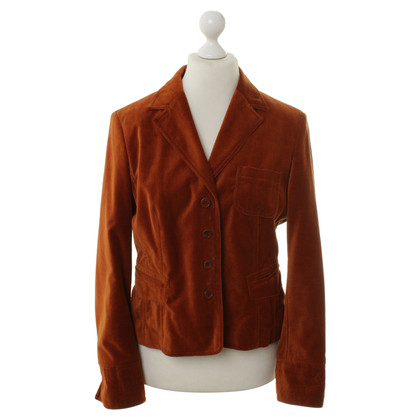 IQ Berlin Velvet Blazer in Cognac Brown