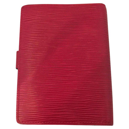 "Louis Vuitton ""Agenda Fonctionnel PM EPI leather"" in rosso"