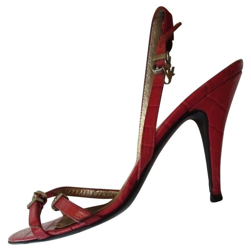 Versace Sandals Leather in Red - Second