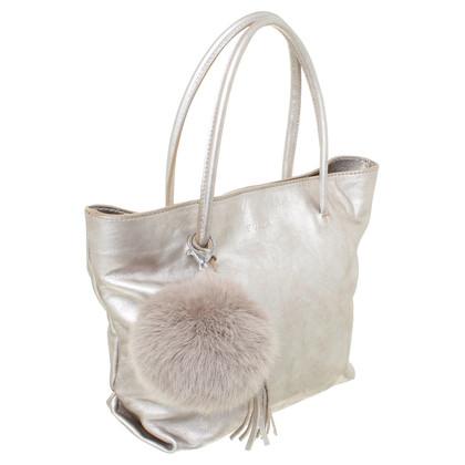 Furla Handtasche im Metallic-Look