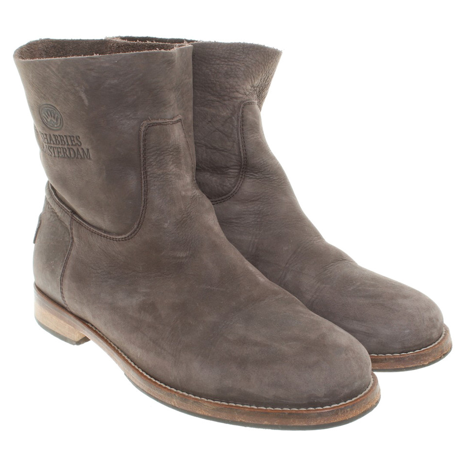 shabbies amsterdam ankle boots in braun second hand. Black Bedroom Furniture Sets. Home Design Ideas