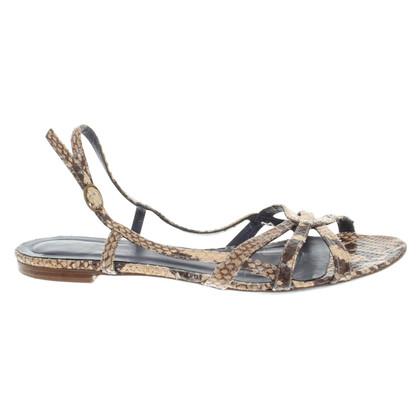 Zadig & Voltaire Belt sandals with reptile embossing