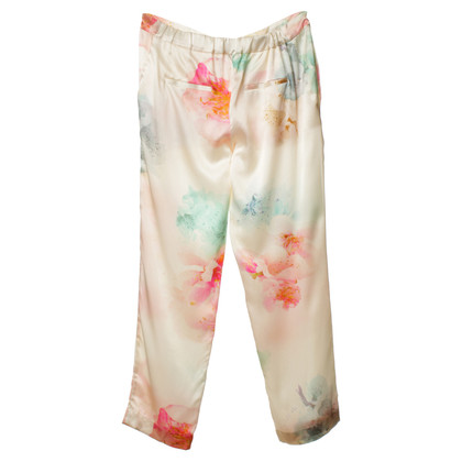 Michalsky Silk trousers with floral print
