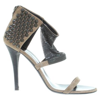 Balmain Suede sandalen met klinknagels