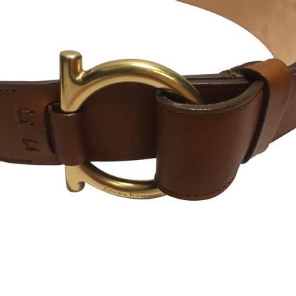 Salvatore Ferragamo cintura in pelle marrone