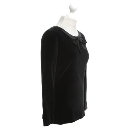 Chanel Velvet Top in zwart