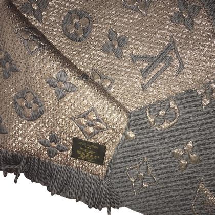 Louis Vuitton Logo Mania Shine Scarf in Gray