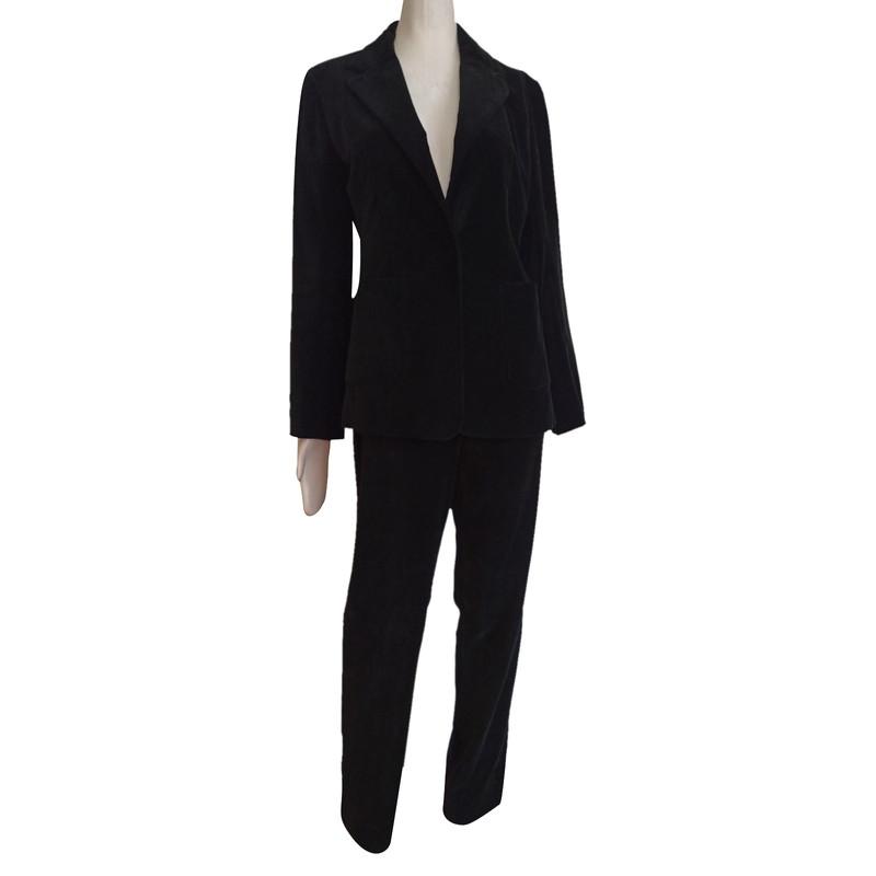 Burberry Anzug in Schwarz Second Hand Burberry Anzug in