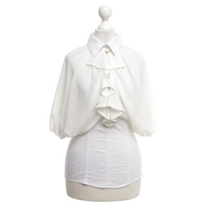 Elisabetta Franchi Bluse in Weiß