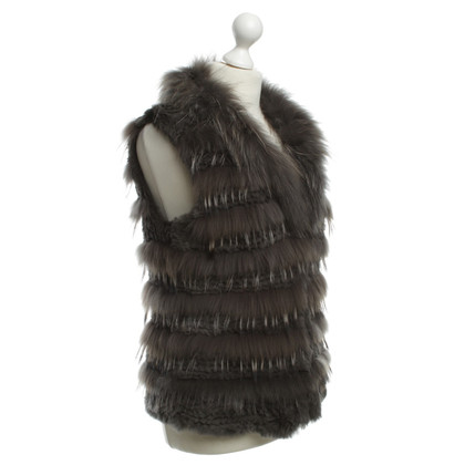 Luisa Cerano Fur vest in grey