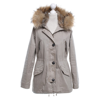Blonde No8 Parka with fur trim