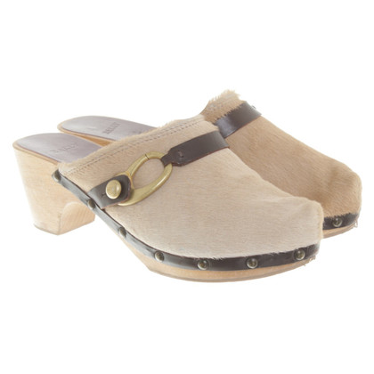 Bally Wedges-Mules met bont