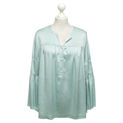 L'autre Chose Silk blouse in Mint