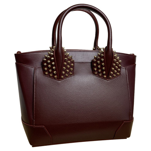 1c7c3e4615 Christian Louboutin Tote bag Leather in Bordeaux - Second Hand ...