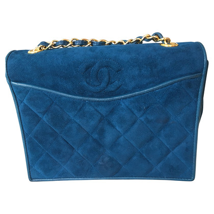 Chanel Suede leather handbag in blue