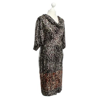 Max Mara zijden jurk met patroon