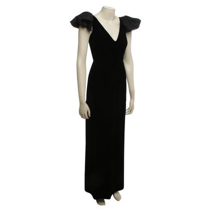 Armani Collezioni vestito di velluto in nero