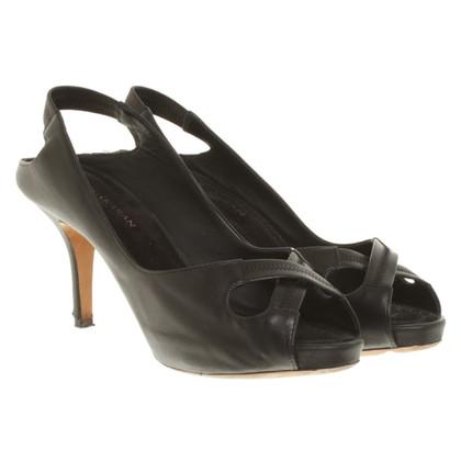 Donna Karan Peeptoes in zwart