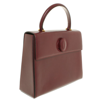 Cartier Handtasche in Bordeaux