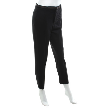 Miu Miu Creased trousers in black