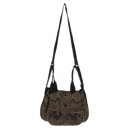 Antik Batik Suede shoulder bag
