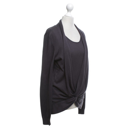 Repeat Cashmere Top in donkergrijs