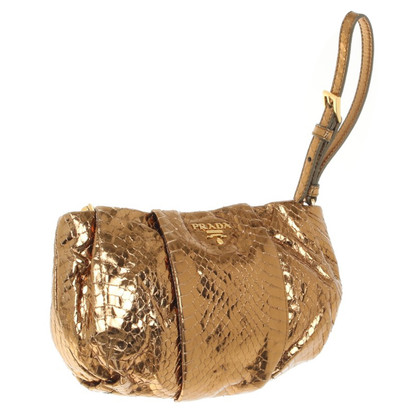 Prada Goldfarbene Clutch