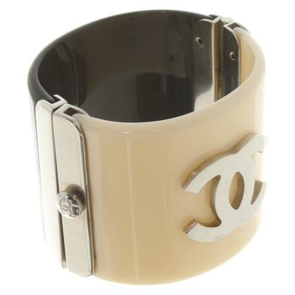 Chanel Armband in zwart / creme