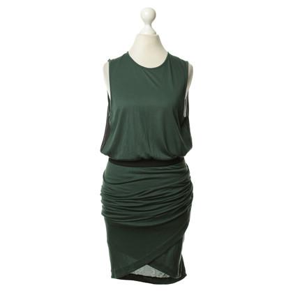 By Malene Birger Grünes Kleid mit Raffungen