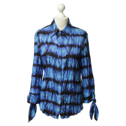 Roberto Cavalli Silk blouse with patterns