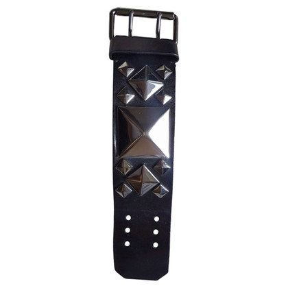 Givenchy Bracciale in pelle nera