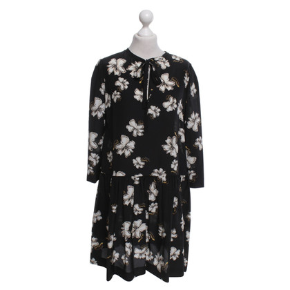 Rochas Silk dress with a floral pattern