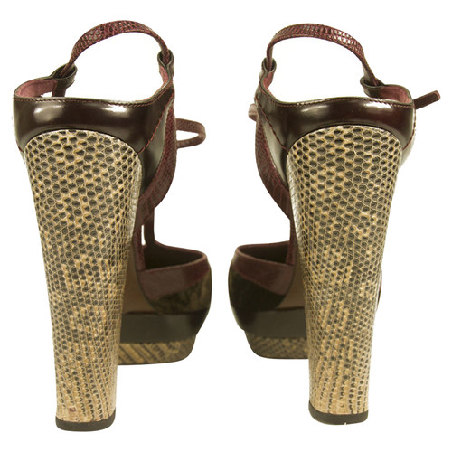 cd5d6a14f058d Louis Vuitton Mary Janes Heels Samt Eidechse Leder - Second Hand ...