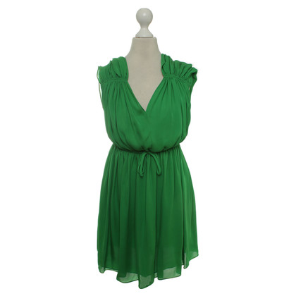 Halston Heritage Robe de soie en vert