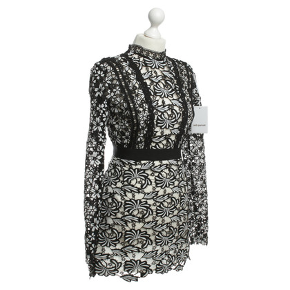 Self-Portrait Lace dress in black and white