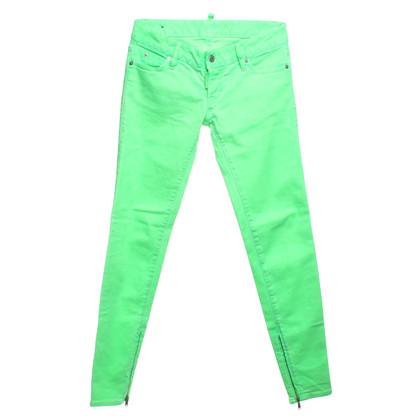Dsquared2 Low Waist Jeans in Neongrün