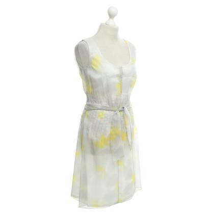 René Lezard Silk dress with print