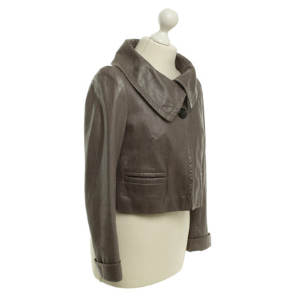 Laurèl Leather Jacket in Gray