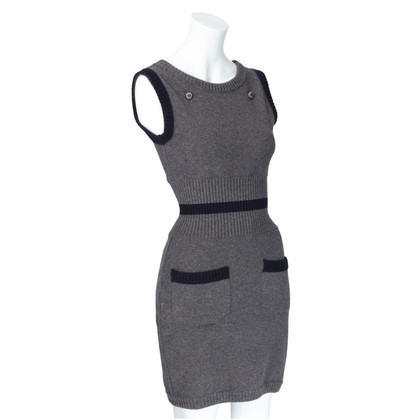 Chanel Strickkleid in Grau