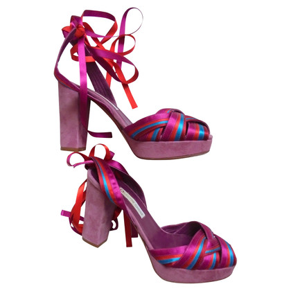 L'autre Chose Colorful plateau sandals