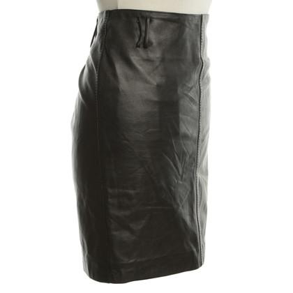 Gucci Lederen rok in zwart