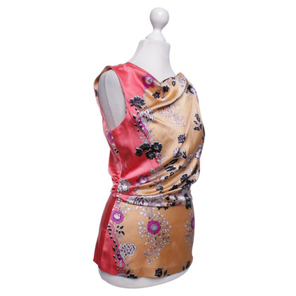 Etro camicetta di seta con motivo floreale